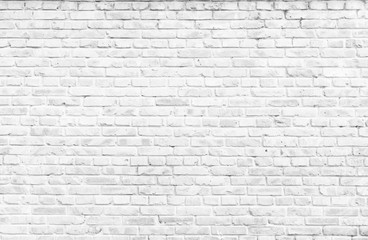 Photo sur Aluminium Brick wall Texture background concept: white brick wall background in rural room
