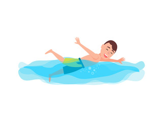 Swimming Sport and Activity Vector Illustration
