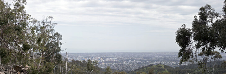 adelaide from cleland national park