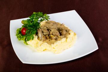 Beef Stroganoff with potato