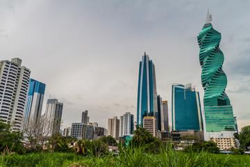 PANAMA CITY, PANAMA - MAY 30, 2016: Skyline of skyscrapers in Panama City