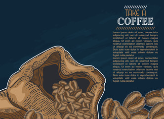 Hand drawn sketch illustration coffee for you design