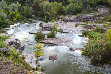 Foto op Plexiglas Rivier canyon on the eve of autumn
