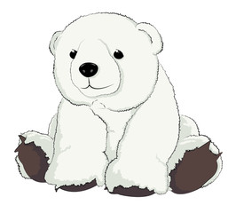 Illustration of a cut cuddly teddy bear