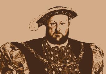 Portrait d'Henri VIII, personnage historique et roi d'Angleterre