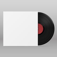 vinyl paper envelope, template design element, Vector illustration