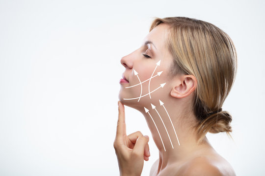 Anti Aging Treatment And Plastic Surgery Concept