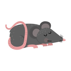 Cute mouse in cartoon style