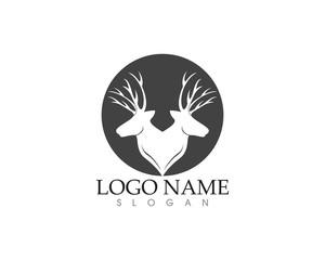 Deer head silhouette logo vector