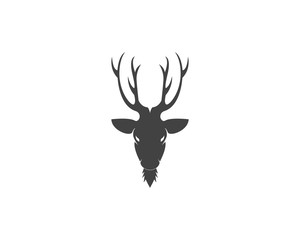 Deer head silhouette logo vector