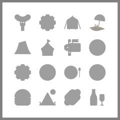 16 dinner icon. Vector illustration dinner set. hot dog and settings icons for dinner works