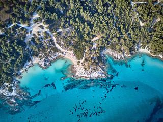 Foto op Aluminium Luchtfoto Beautiful beach top aerial view drone shot