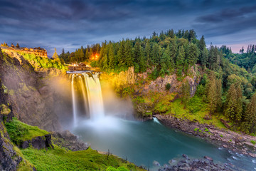 Falls City, Washington, USA at Snoqualmie Falls.