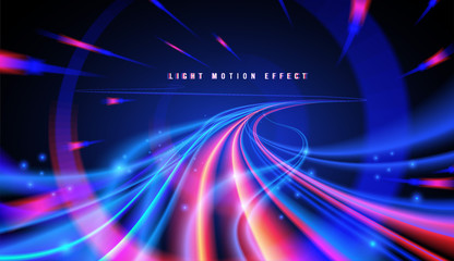 Abstract Curvy Light Trails Wall mural