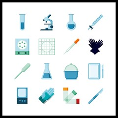 hospital icon. laboratory and microscope vector icons in hospital set. Use this illustration for hospital works.