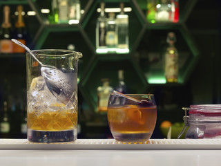 Cocktail bar orange