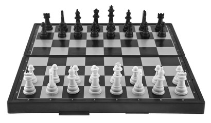 chess isolated on white background. As an element of packaging design