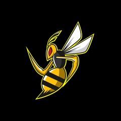 yellow bees esports logo