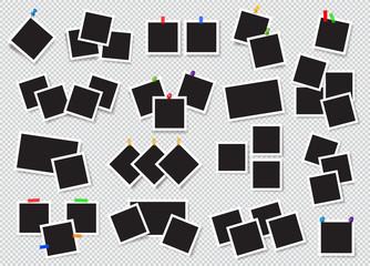 Set of realistic photo frames