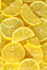 Many fresh lemon slices