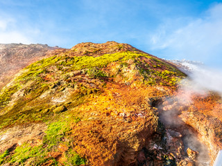 Heat stream in Deildartunguhver hot spring, Iceland