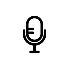 Microphone vector icon, mic symbol. Simple illustration, flat design for web or mobile app
