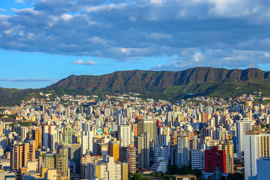 panoramic views of Belo Horizonte, capital of Minas Gerais, Brazil