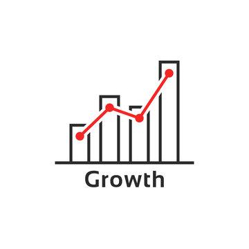simple thin line growth logo like success