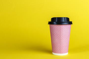 pink cardboard cup