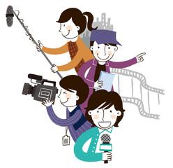 Group of media people