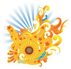 sunflower design elements