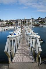 Embarcadère du port de Douarnenez (Finistère)