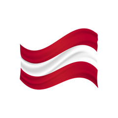 austria flag fluctuating vector (Österreich Flagge)