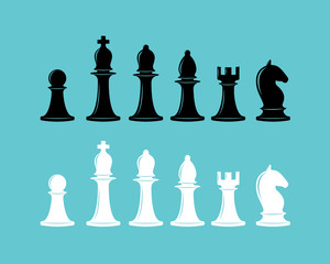 Chess icons collection.