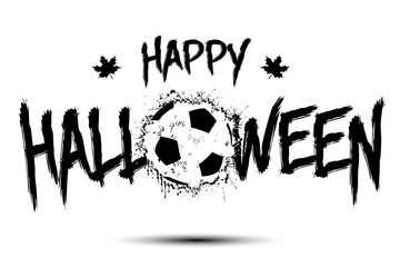 6783336 Happy halloween and soccer ball of blots