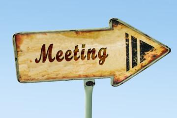 Schild 328 - Meeting