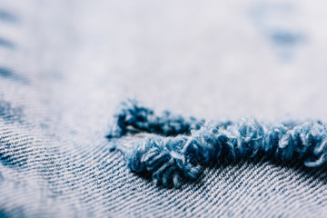 Denim Texture Of Torn Up Jeans