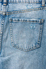 Jeans Pocket Closeup With Denim Texture Details