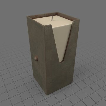 Western candle holder