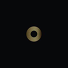 Creative Minimal Geometric Letter O Logo Design