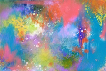 abstract expressive colors hand painted artistic design background