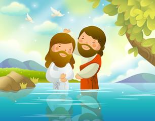 Baptism of Jesus Christ by John the Baptist