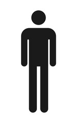 Door stickers Wall Decor With Your Own Photos Male and female toilet icon vector, filled flat sign, solid pictogram isolated. WC symbol, logo illustration