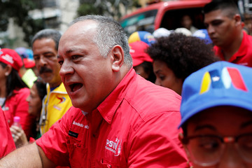 ANC President Diosdado Cabello attends a rally in support of Venezuela's President Nicolas Maduro in Caracas