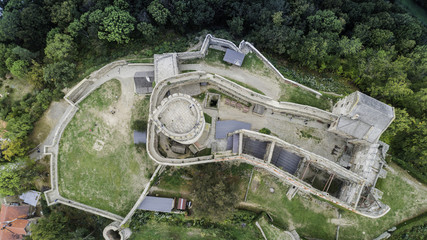 Bolków panorama na zamek i miasto z lotu ptaka