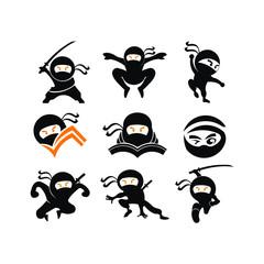 Ninja Samurai Warrior Fighter Character Cartoon Martial Art Weapon Shuriken