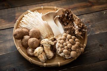 Fototapeta assorted japanese mushroom obraz