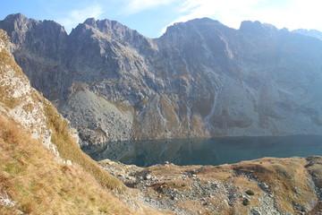 Veľké Hincovo pleso lake under Kôprovský štít peak in Mengusovska dolina valley, High Tatras, Slovakia