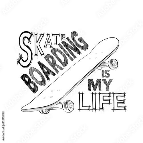 Skateboarding T Shirt Design Urban Skating Skateboard