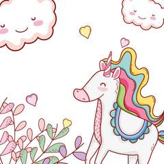 Unicorn cute cartoons